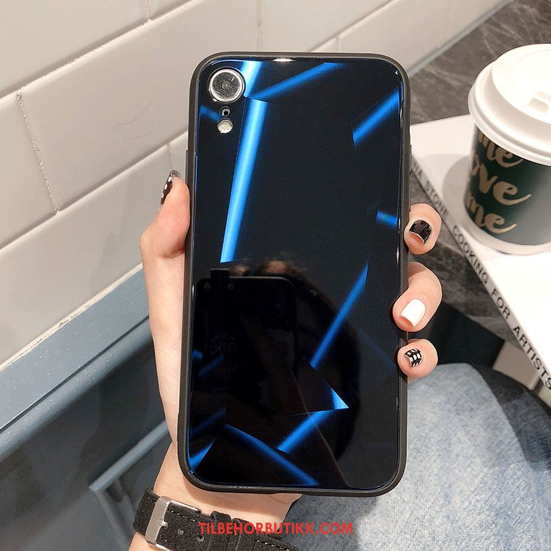 iPhone Xr Deksel Rombe Nye Glass Anti-fall Silikon Billig