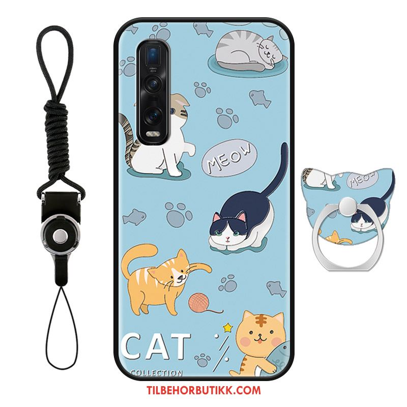 Oppo Find X2 Pro Deksel Katt Vakker Ring Cartoon Mobiltelefon Etui Billige
