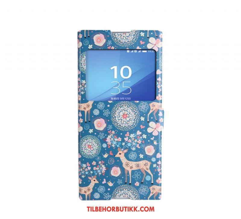 Sony Xperia Xa1 Deksel Anti-fall Mobiltelefon Lærveske Beskyttelse Cartoon Etui Billig