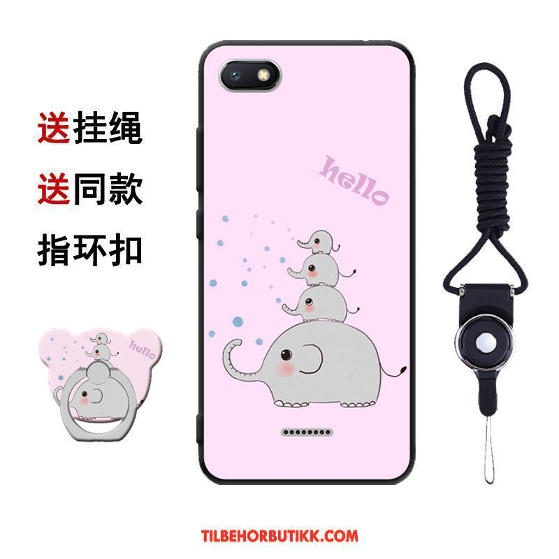 Xiaomi Redmi 6a Deksel Silikon Mobiltelefon Cartoon Tempe~~pos Net Red Billige