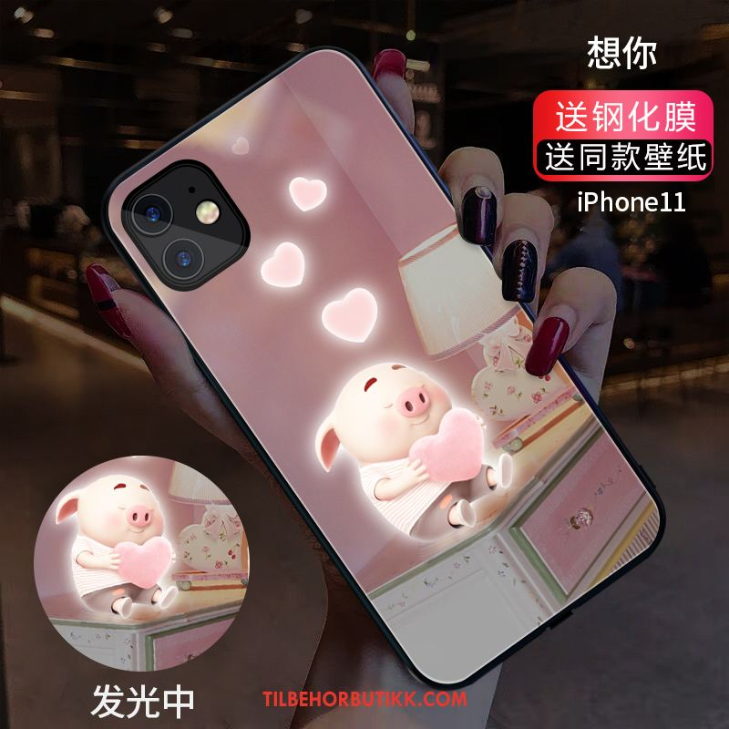 iPhone 11 Deksel Glass Lovers Rosa Mobiltelefon Trend Salg
