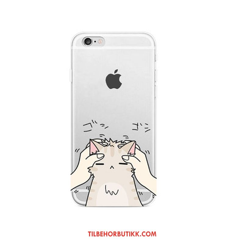 iPhone 6 / 6s Plus Deksel Gjennomsiktig Hengende Ornamenter Cartoon Lovers Anti-fall Billige